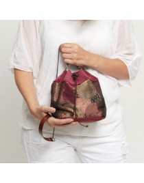 Velvet and jacquard bucket bag VELLUT