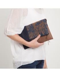Medium Clutch combined with suede  BONSIL