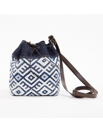Upholstery bucket bag - Saquet Tribal Blue