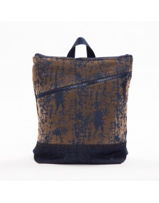 Fabric suede backpack with pocket