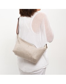 Natural linen shoulder bag GINA