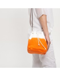 Orange linen bucket bag DIM