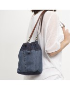 Recycled Denim Bucket bag Blue jeans 2