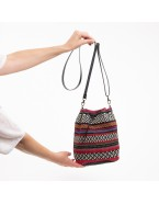 Purple and Black tribal hobo bag TINA