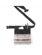 Black tribal hip bag