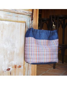 Colorful tapestry hobo bag