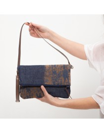 Combined small denim clutch