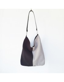 Wool hobo bag