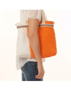 Linen ombre shoulder bag BARNI Orange