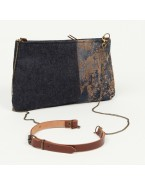 Small denim crossbody bag