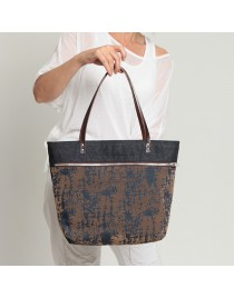 Denim zipper shopping bag CAS