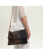 Brown Denim crossbody bag