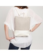 Small linen backpack
